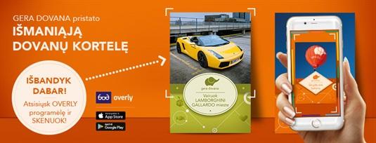 """""""Gera dovana"""" pristato naują produktą – išmaniąsias dovanų korteles"""