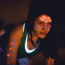 Treniruotė neonų šviesoje + fotosesija