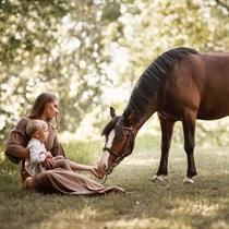 Laikas su žirgu Kurtuvėnų parke