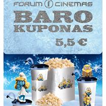 """Forum Cinemas"" baro kuponas (5,5 Eur)"