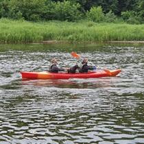 Ramus plaukimas baidarėmis Neries upe