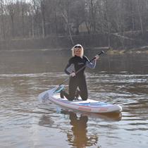Plaukimas irklentėmis Vilniuje