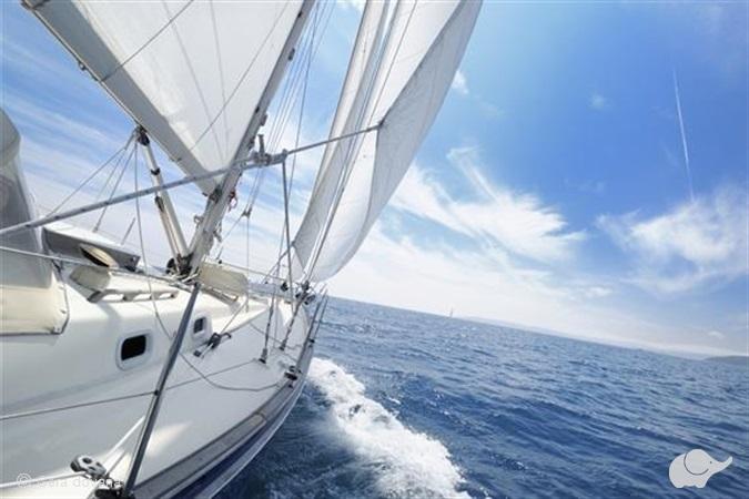 Plaukimas jachta Kuršių mariose