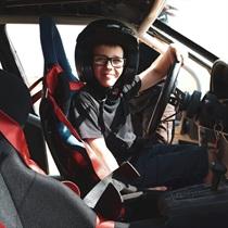Sportinio ralio BMW vairavimo pamoka vaikui
