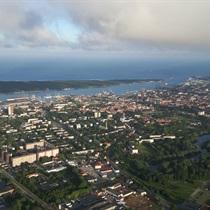 Skrydis oro balionu virš Klaipėdos