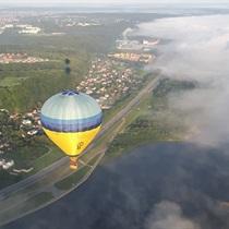 Skrydis oro balionu virš Kauno