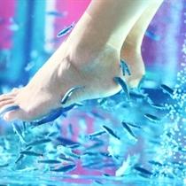 Kojų procedūra su Garra Rufa žuvelėmis