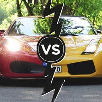 """""""Lamborghini"""" vs. """"Ferrari"""" – išmėgink abu!"""